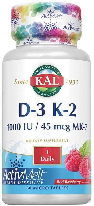 KAL D-3 K-2 Raspberry 1 Daily  60 micro tabs