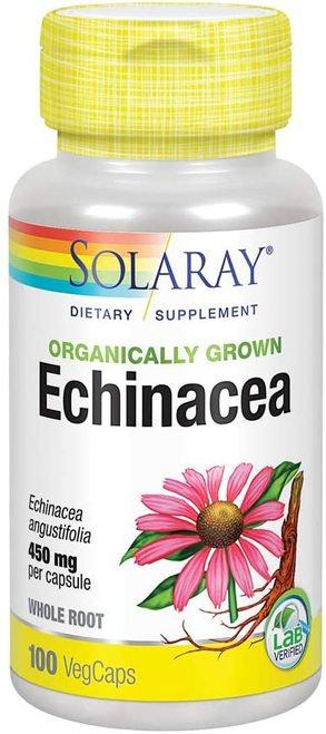 Solaray Echinacea Organic 450 mg  100 caps