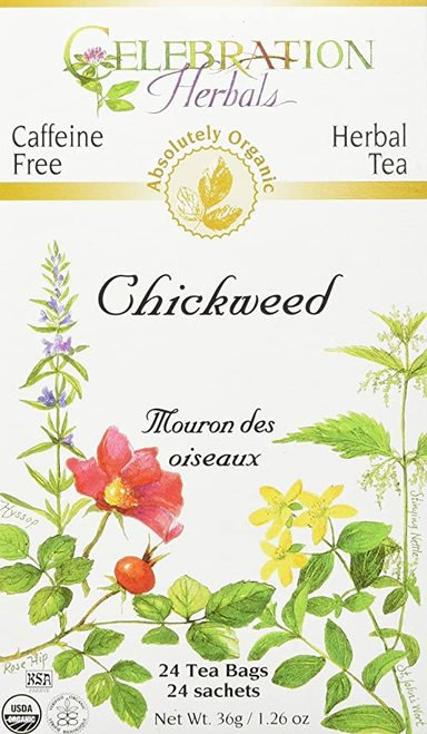 Celebration Organic Herbal Tea Chickweed  24 bags
