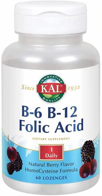 KAL B-6 B-12 Folic Acid Berry 1 Daily  60 micro tabs