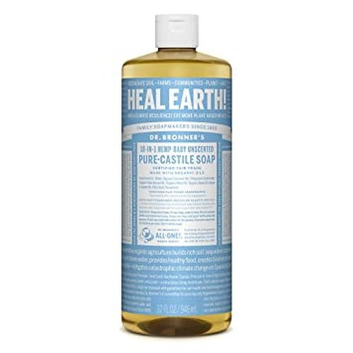 Dr. Bronner's Pure-Castile Soap Baby Unscented  946 ml