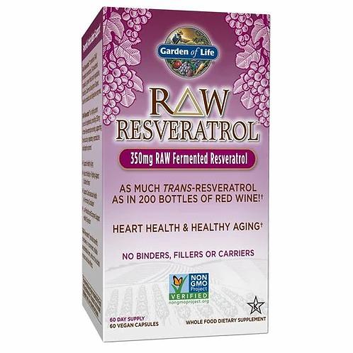 Garden of Life RAW Resveratrol 350 mg 60 caps