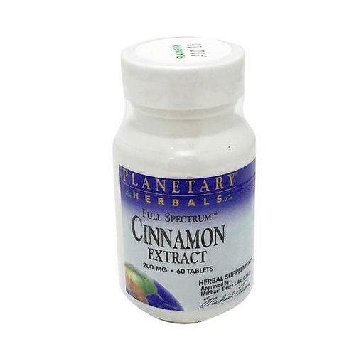 Planetary Herbals Cinnamon Extract 200 mg  60 tabs
