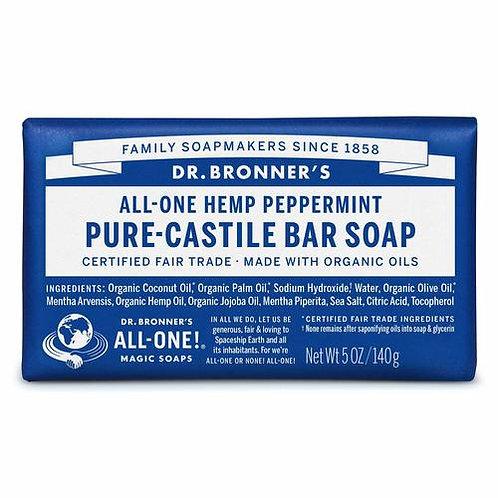 Dr.  Bronner's Pure-Castile Bar Soap Peppermint  140 g