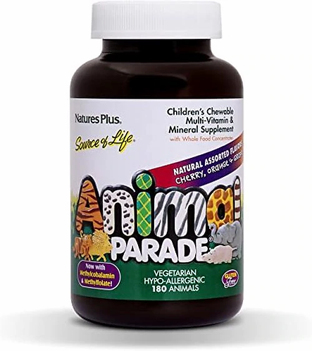 NaturesPlus Animal Parade Assorted Chewable  180 tabs