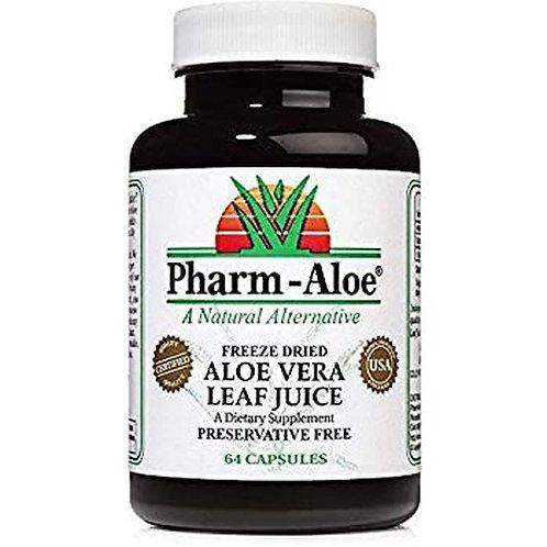 Pharm-Aloe Aloe Vera Leaf Juice  64 caps
