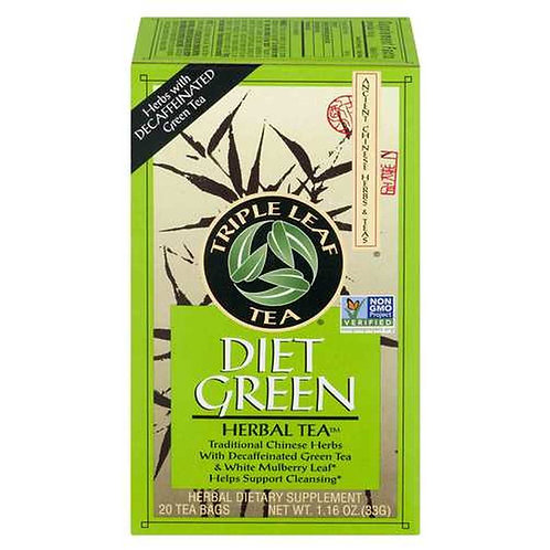 Triple Leaf Tea Diet Green Tea  20 bags