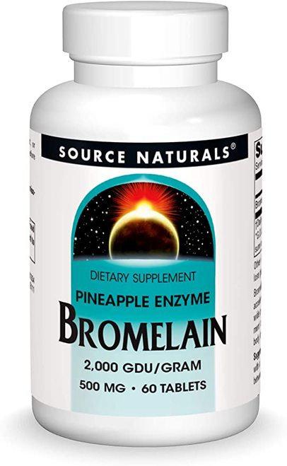 Source Naturals Bromelain 2,000 gdu-gram  60 tabs