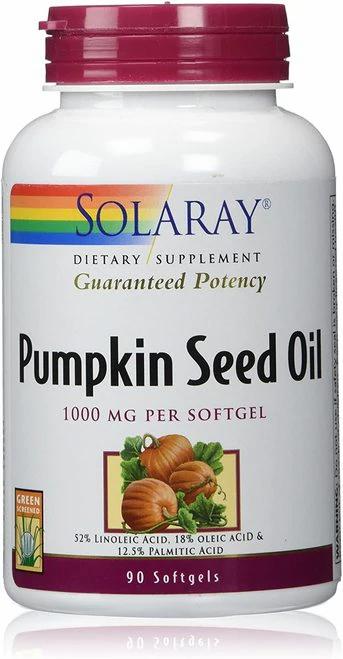Solaray Pumpkin Seed Oil 1000 mg  90 softgels