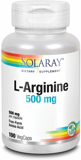 Solaray L-Arginine 500 mg  100 caps