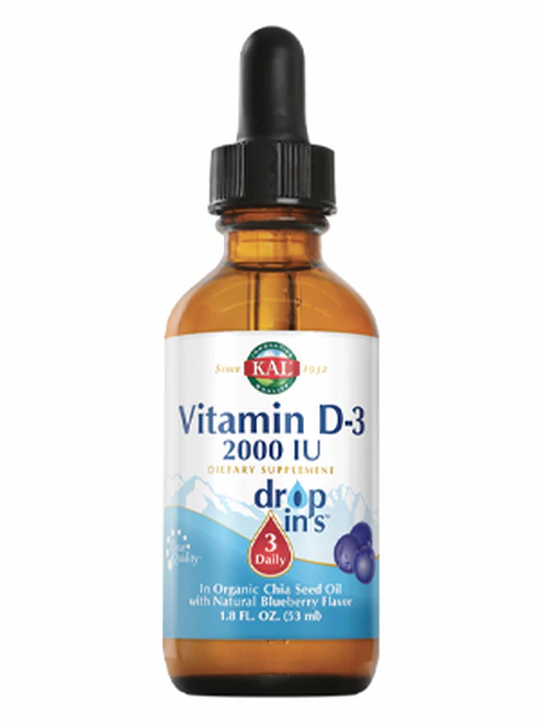 KAL Vitamin D-3 2,000 IU Drops Blueberry 3 Daily  53 ml