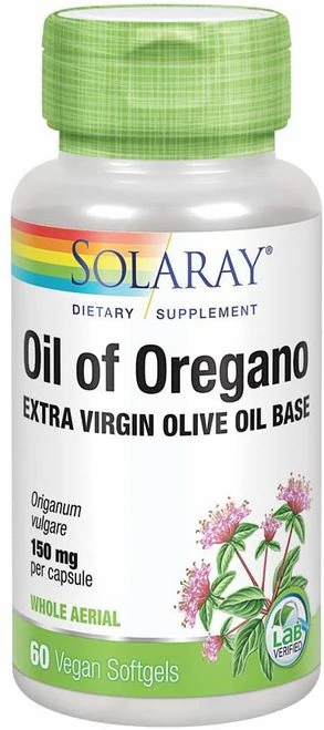 Solaray Oil of Oregano 150 mg  60 softgels
