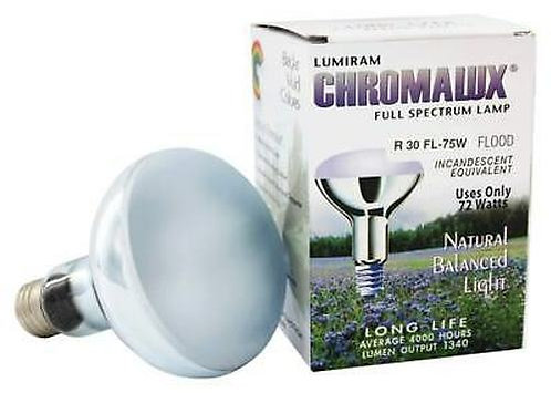 Lumiram Chromalux Full Spectrum 75W R30 Medium Base  1 ct