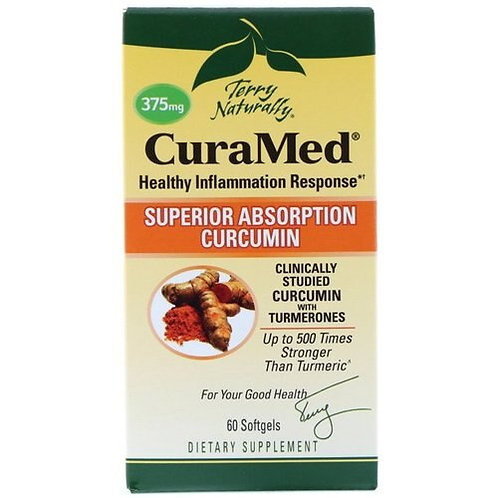 Terry Naturally CuraMed Superior Absorption Curcumin 375mg 60 softgels