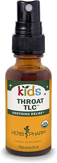 Herb Pharm Kids Throat TLC Spray   30 ml