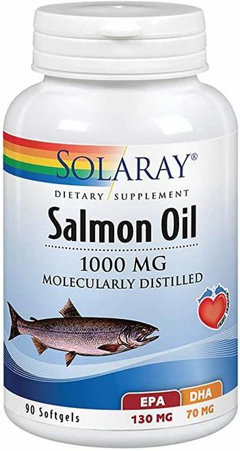 Solaray Salmon Oil 1000 mg  90 softgels
