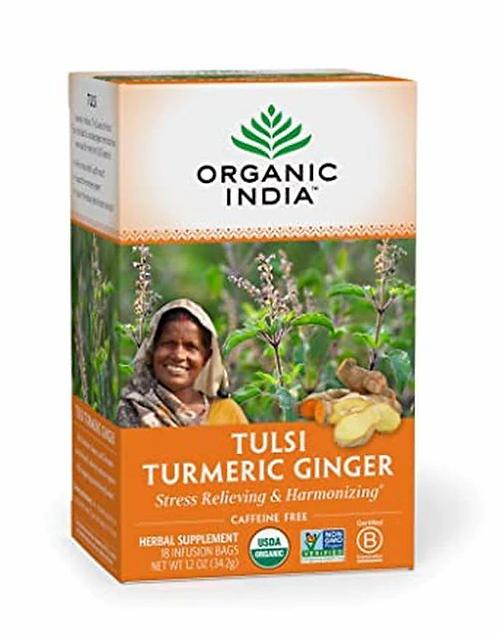 Organic India Tea Tulsi Turmeric Ginger  18 bags