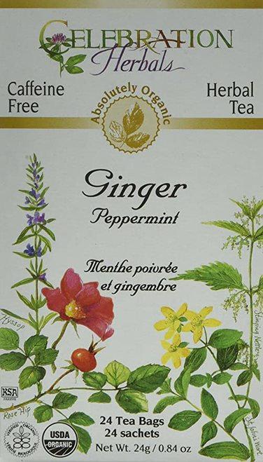 Celebration Organic Herbal Tea Ginger Peppermint  24 bags
