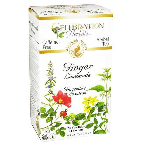 Celebration Organic Herbal Tea Ginger Lemonade  24 bags