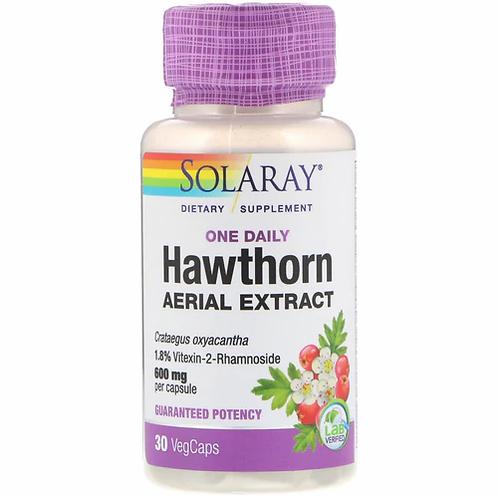 Solaray Hawthorn Aerial Extract One Daily 600 mg   30 caps