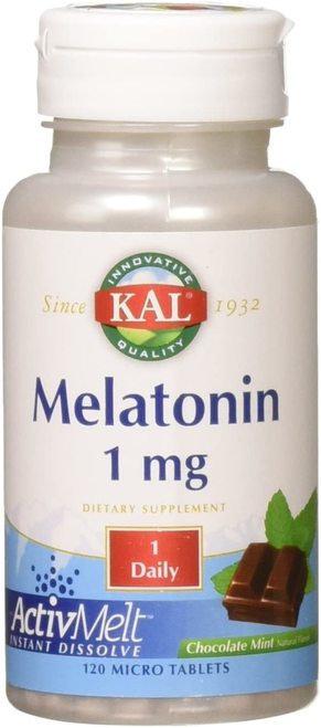 KAL Melatonin 1 mg Chocolate Mint 1 Daily  120 micro tabs