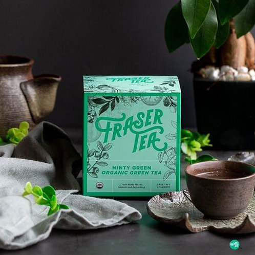 Fraser Tea Minty Green Organic Green Tea  12 bags