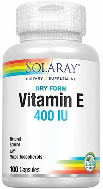 Solaray Vitamin E Dry Form 400 IIU  100 caps