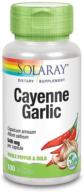 Solaray Cayenne Garlic 540 mg  100 caps