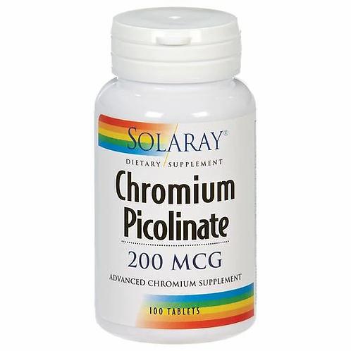 Solaray Chromium Picolinate 200 mcg  100 tabs