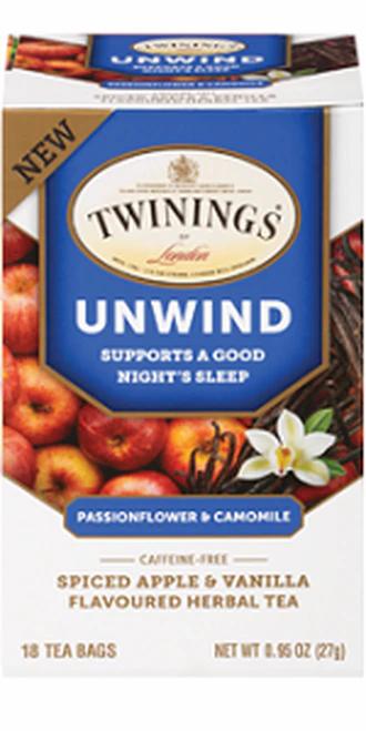 Twining's Tea Unwind Passionflower & Camomile Spiced Apple & Vanilla  18 bags