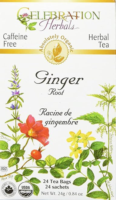 Celebration Organic Herbal Tea Ginger Root  24 bags