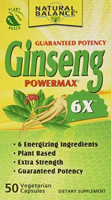 Natural Balance Ginseng Powermax 6X  50 caps