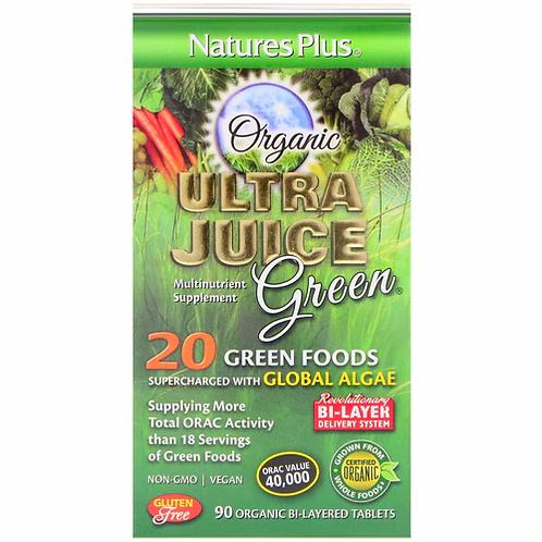 NaturesPlus Ultra Juice Green Organic  90 tabs