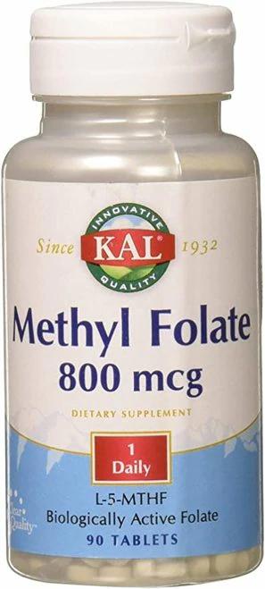 KAL Methyl Folate 800 mcg 1 Daily  90 tabs