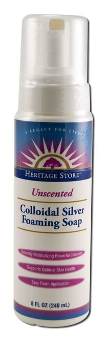 Heritage Store Colloidal Silver Foaming Soap Unscented  240 ml