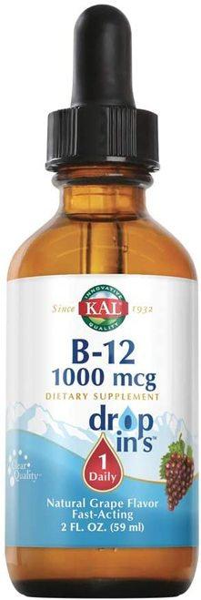 KAL B-12 1,000 mcg Drops Grape 1 Daily 59 ml