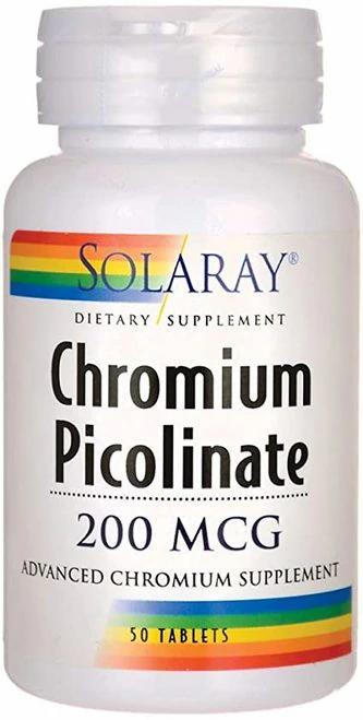 Solaray Chromium Picolinate 200 mcg  50 tabs