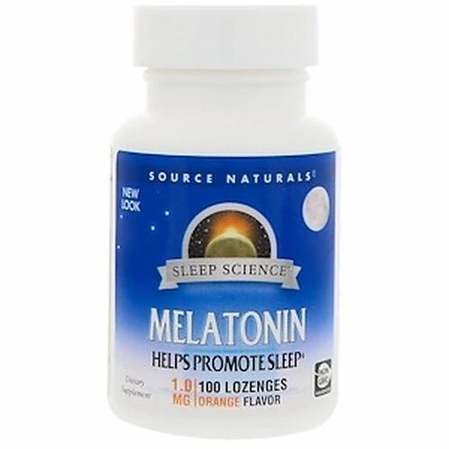 Source Naturals Melatonin 1.0 Orange  100 lozenges