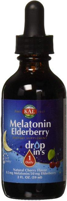 KAL Melatonin Elderberry Drops Cherry 1 Daily  59 ml