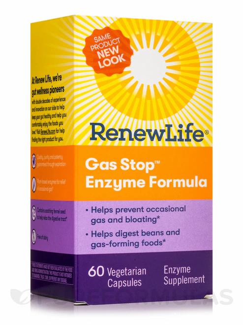 RenewLife Gas Stop Enzyme Formula  60 caps