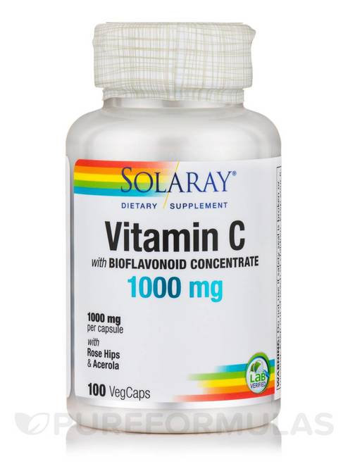 Solaray Vitamin C Bioflavonoid Concentrate 1000 mg  100 caps