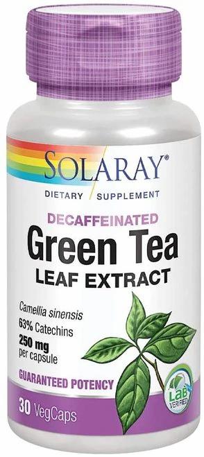 Solaray Green Tea Leaf Extract Decaf 250 mg  30 caps