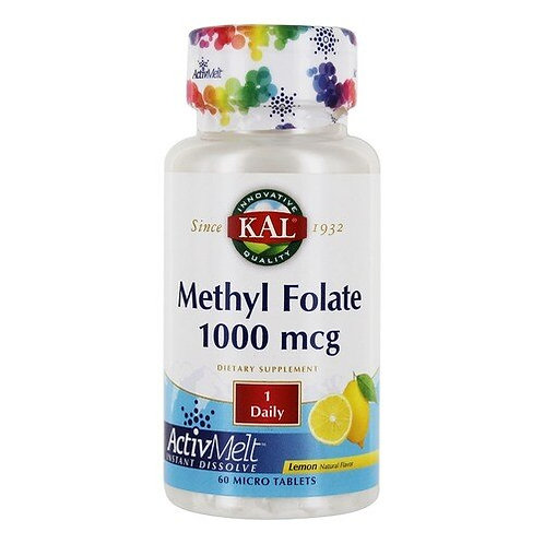 KAL Methyl Folate 1,000 mcg Lemon 1 Daily  60 micro tabs