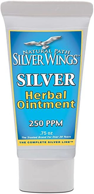 Natural Path Silver Wings Herbal Ointment 250 PPM  .75 oz