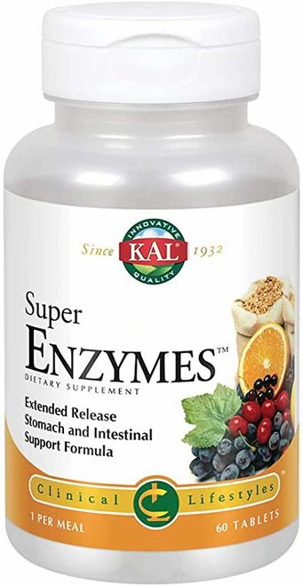 KAL Super Enzymes 1 per meal  60 tabs