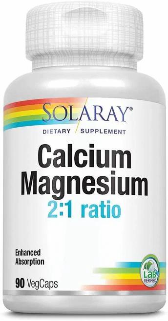 Solaray Calcium Magnesium 2 to 1 ratio  90 caps