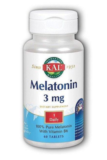 KAL Melatonin 3 mg SR 1 Daily  60 tabs