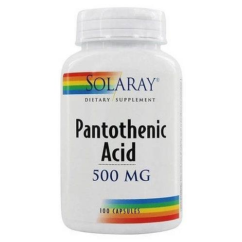 Solaray Panthothenic Acid 500 mg 100 caps