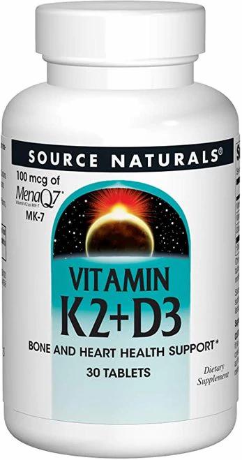 Source Naturals Vitamin K2 + D3  30 tabs