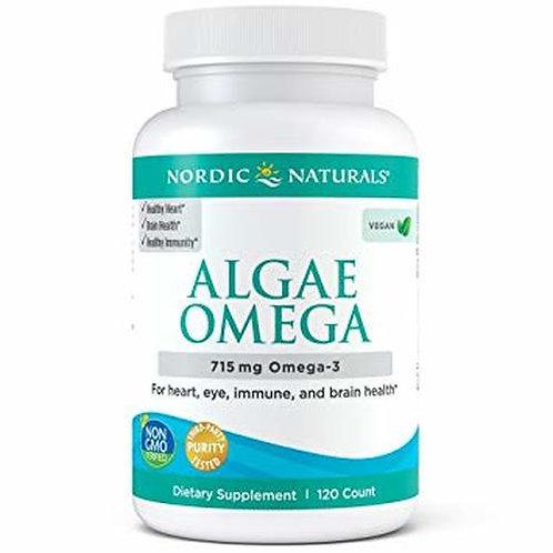 Nordic Naturals Algae Omega Plant-Based EPA & DHA 715 mg Omega-3 120 ct.